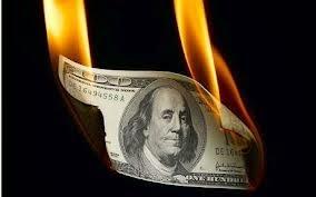 dollar burning
